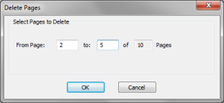 delete pages dialog